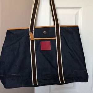 Coach denim travel bag